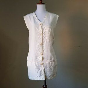 Vtg. Liz Claiborne Blouse Sz medium 100% Silk
